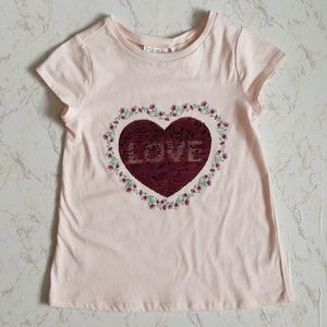 Blush by Us Angels heart  sequin tee size lg 10/12